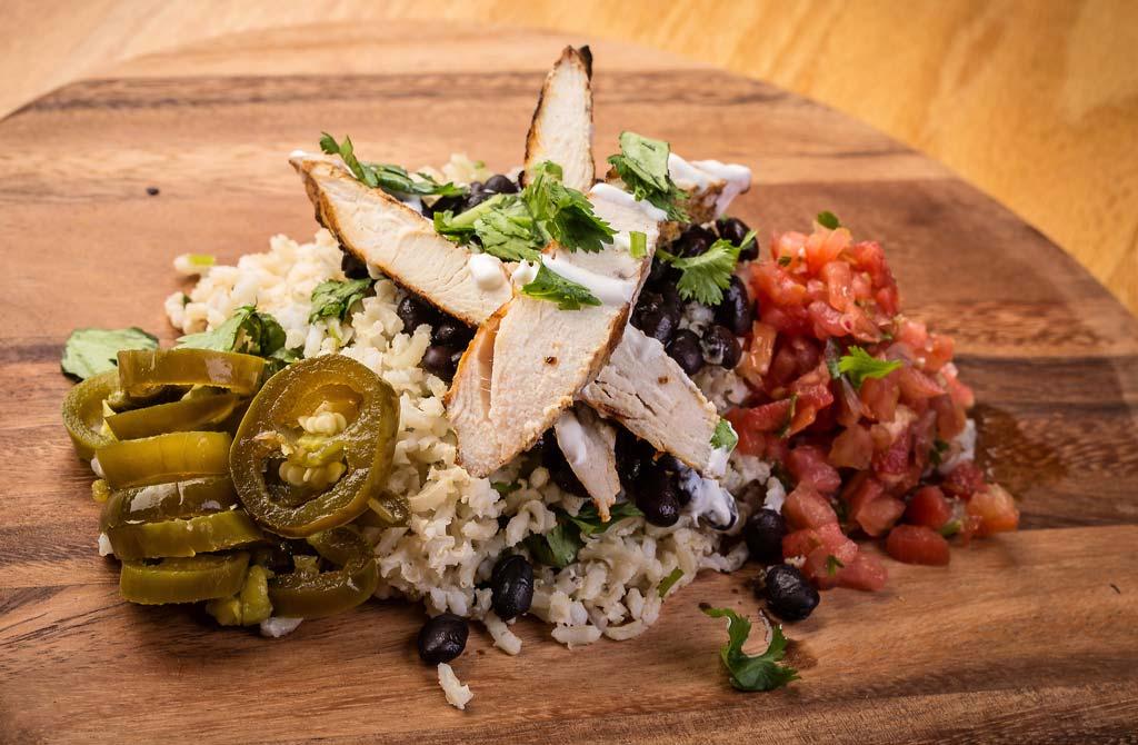 Chido, Burrito, Chicken, Rice, Bowl, EV